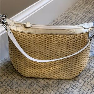 Brighton shoulder straw purse